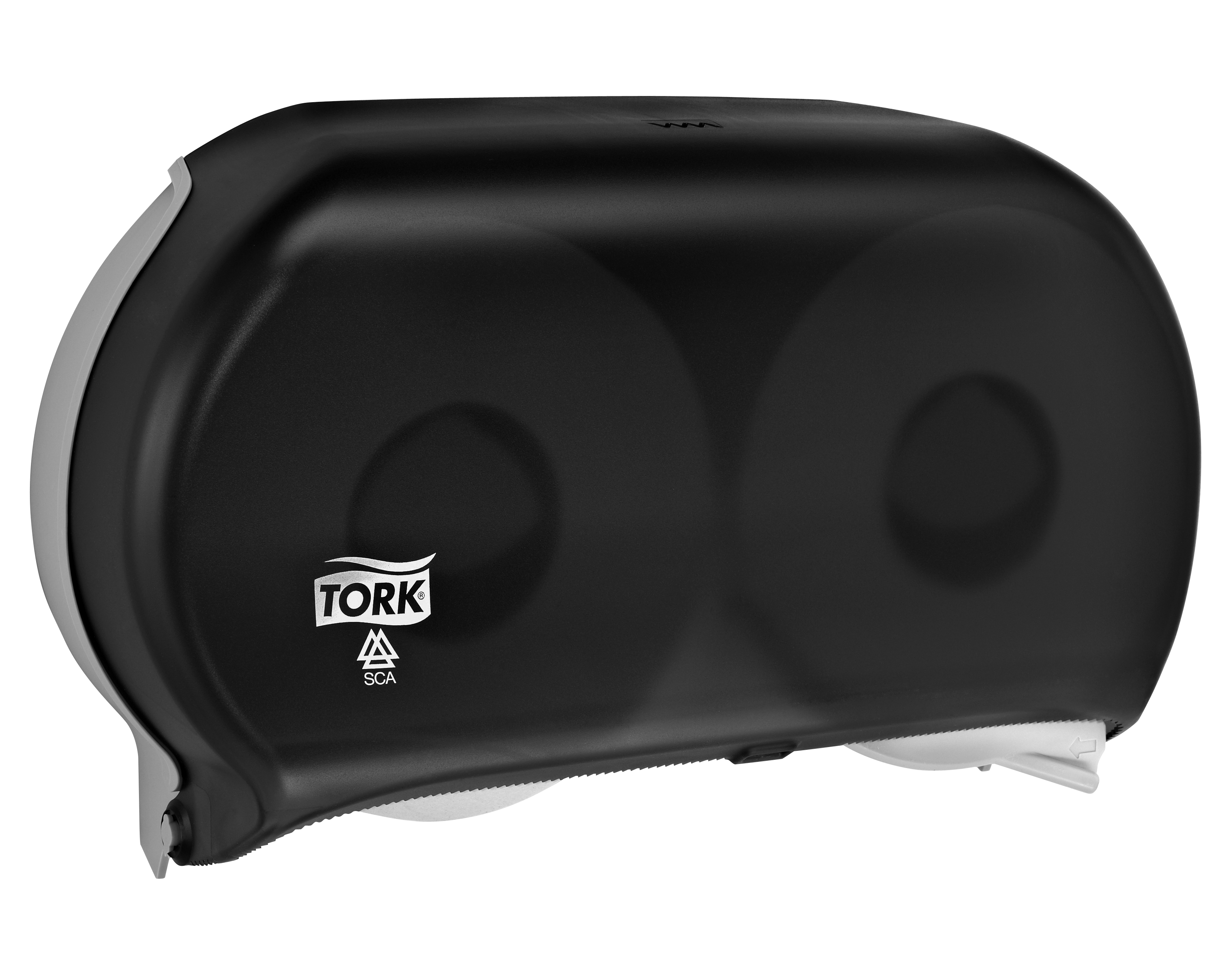 10073286623864 56TR - Tork Bath Tissue Jumbo Roll Twin Dispenser, 9 inch, Smoke